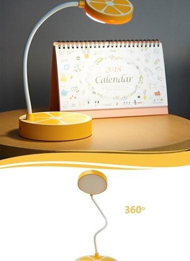Portakal Tasarımlı Masaüstü Dokunmatik Led Çalışma Lambası-Practika